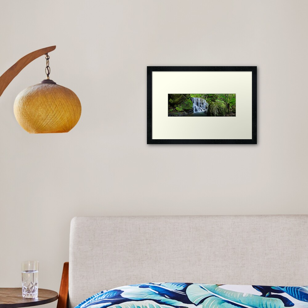 Weeping Rock, Blue Mountains. New South Wales, Australia Framed Art Print