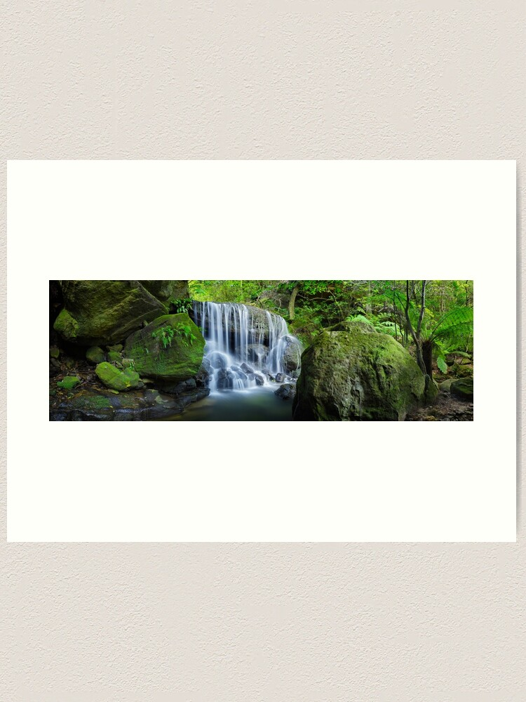 Alternate view of Weeping Rock, Blue Mountains. New South Wales, Australia Art Print