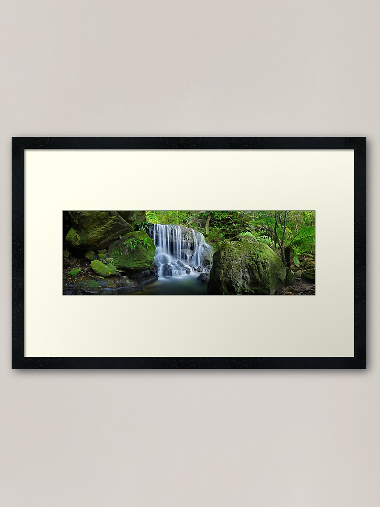 Alternate view of Weeping Rock, Blue Mountains. New South Wales, Australia Framed Art Print