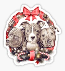 It's a Pit Bull Christmas Sticker