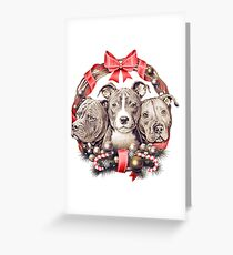 It's a Pit Bull Christmas Greeting Card