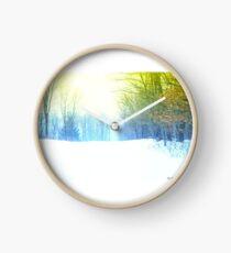 Winter Translucent Clock