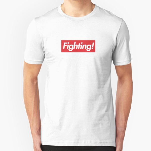 Fighting- Red Design Slim Fit T-Shirt