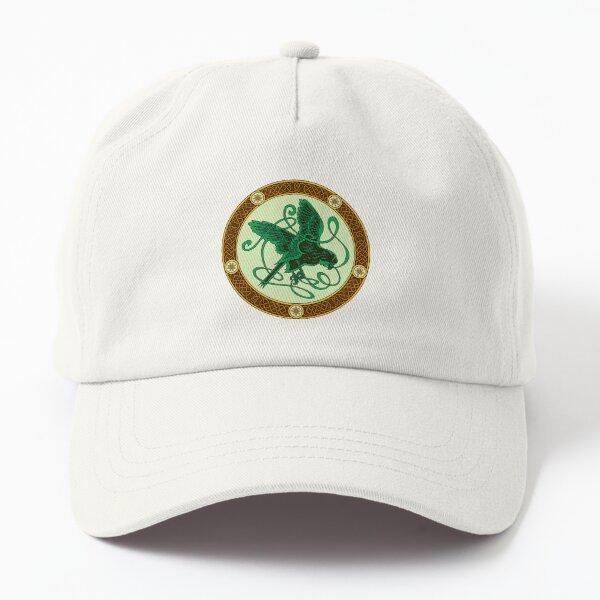 Celtic knotwork hawk - green Dad Hat