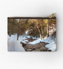Snowy Trail Along Kitchen Creek Studio Pouch