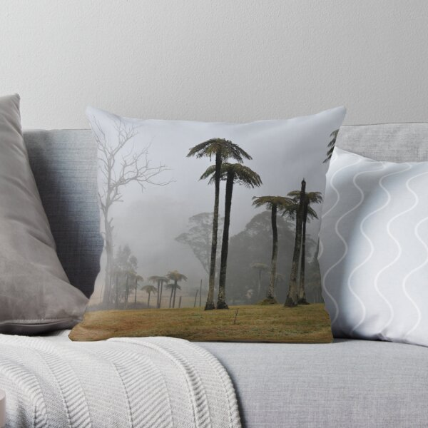 MOUNT WILSON MISTY TREE FERNS. Throw Pillow