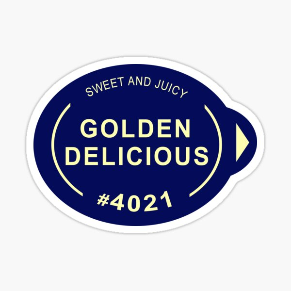 Golden Delicious Apple Sticker