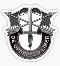 U.S. Army Special Forces - Green Berets DUI over Black Velvet Sticker