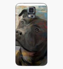 Pit Bull Piglet in Paint Hülle & Klebefolie für Samsung Galaxy