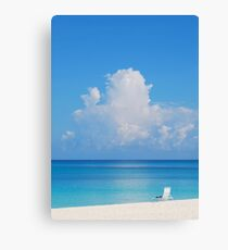Beautiful Beach In Grand Cayman Canvas Print