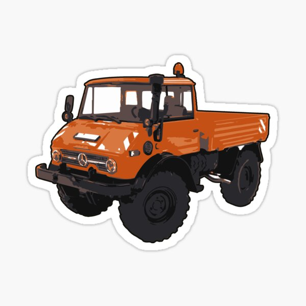 Orange UNIMOG Sticker