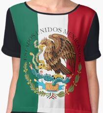 Flag of Mexico (augmented scale) with Coat of Arms (overlaid) Chiffon Top