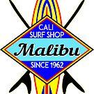 SURFING MALIBU CALIFORNIA SURF SHOP VINTAGE RETRO SURFBOARD by MyHandmadeSigns