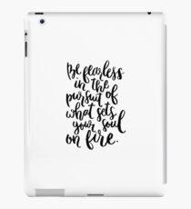 Be Fearless (White) iPad Case/Skin