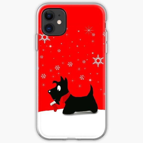Holiday Scottie Dog iPhone Soft Case
