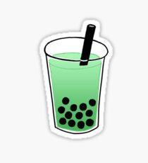 Green Boba Tea Sticker