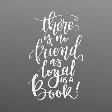 Books are Loyal (chalk) by alicesboutique