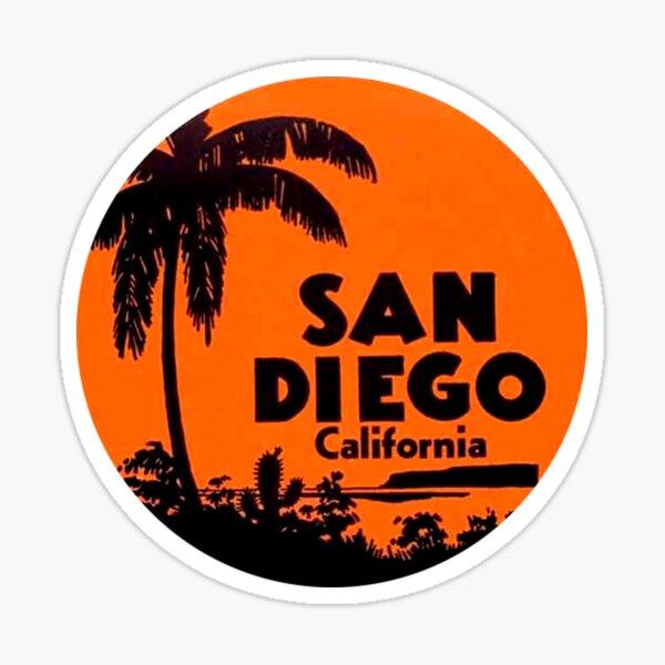 San Diego California Vintage Travel Decal Round Sticker