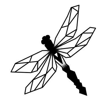 Geometrische Libelle von Lil-Salt