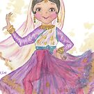 South Asian Dancing Doll by Hajra Meeks