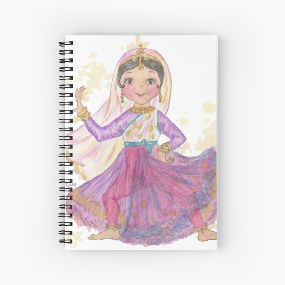 South Asian Dancing Doll Spiral Notebook