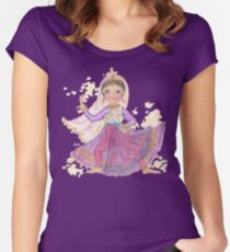 South Asian Dancing Doll Women's Fitted Scoop T-Shirt