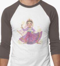 South Asian Dancing Doll Men's Baseball ¾ T-Shirt