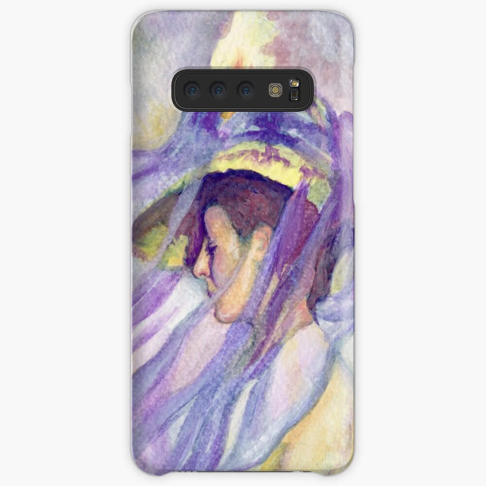 Woman with Blue Veil Case & Skin for Samsung Galaxy