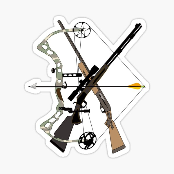 Hunter Toys, Hunting, Weapons, Hunter Gifts Sticker