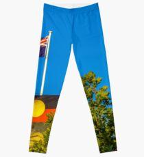 The Australian and Aboriginal Flags - Historic Town Hall, Bendigo Leggings