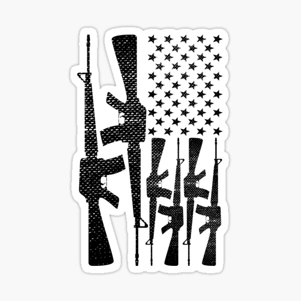 AR-15 2nd Amendment Gun Rights American Flag Sticker