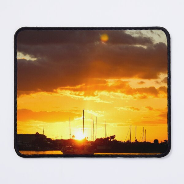 Sailboat in Stunning Sunset Mouse Pad