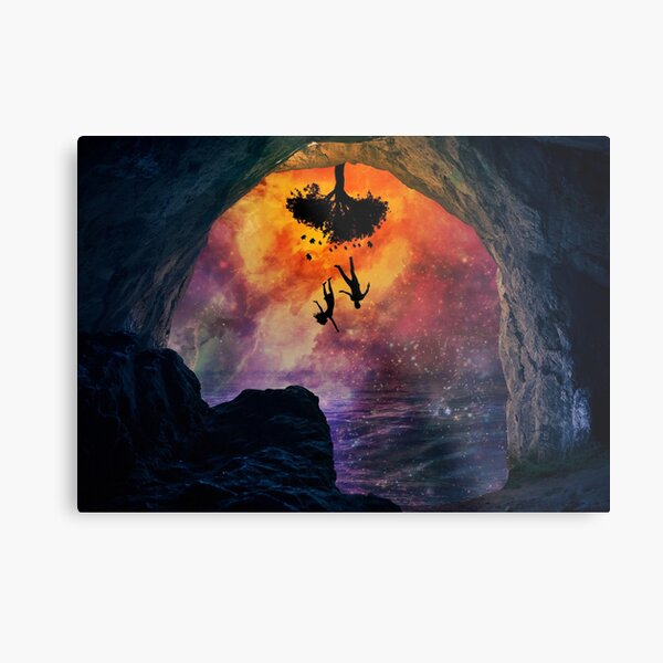 Adam and eve in the beginning  Metal Print