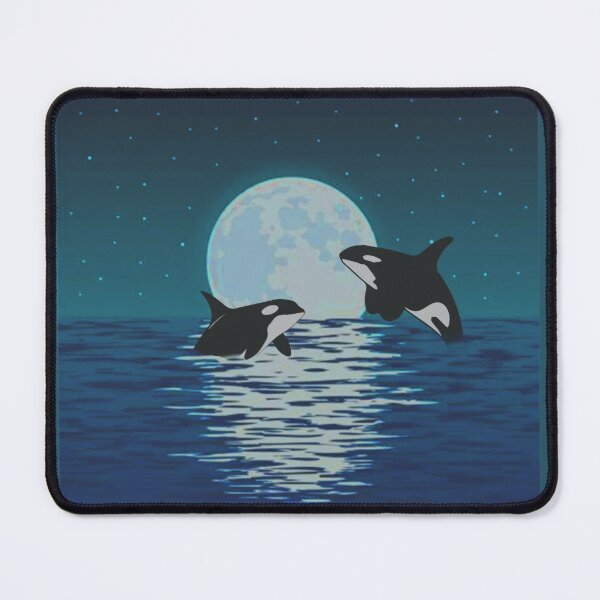 Orca Killer Whale Moonlight- Funny Halloween Costume- Mouse Pad
