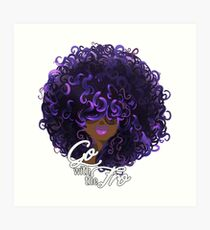 Go with the Fro-Variant Art Print