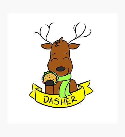 Dasher Photographic Print
