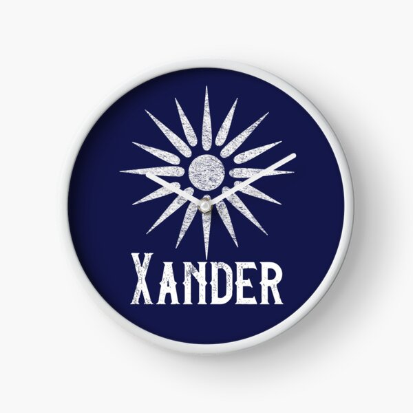 Xander with Macedonian Star of Vergina on Navy Clock