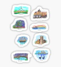 Australia- Capital Cities Sticker