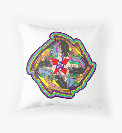Spanish Mandala Throw Pillow