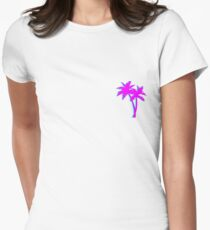 Retro Tree Womens Fitted T-Shirt