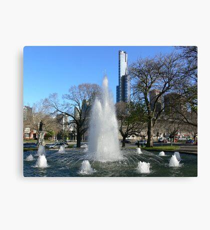 Melbourne fountain Canvas Print