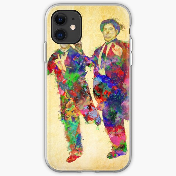 Stan Laurel and Oliver Hardy iPhone Soft Case