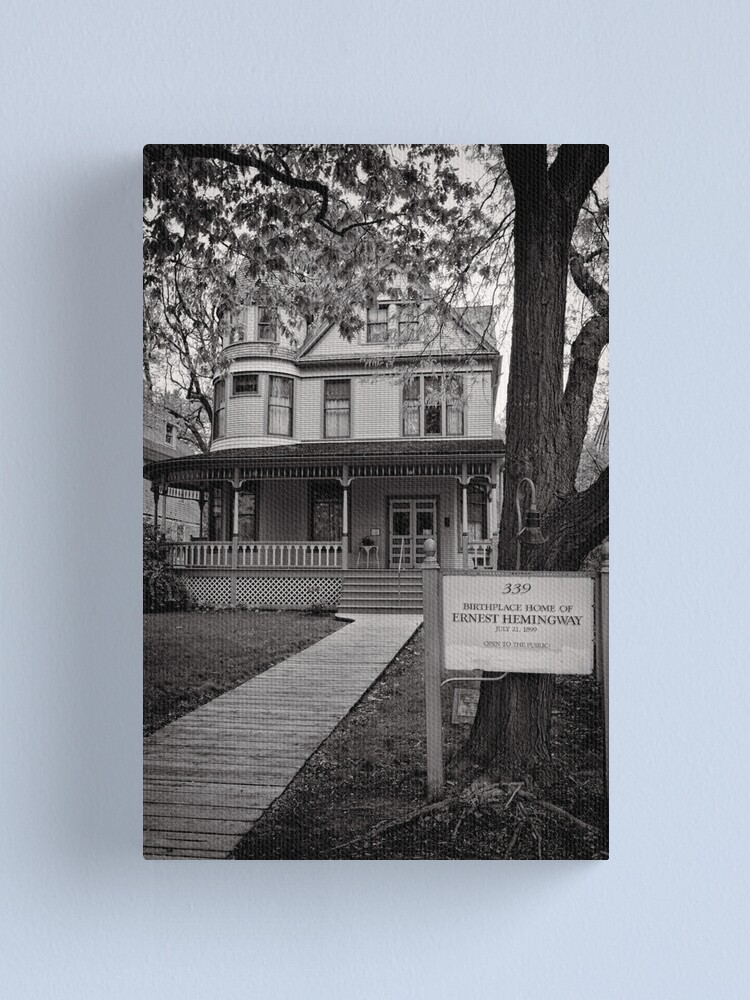 Alternate view of The home of Hemingway, Oak Park Chicago Canvas Print