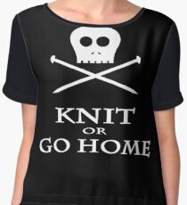 Knit or Go Home Chiffon Top