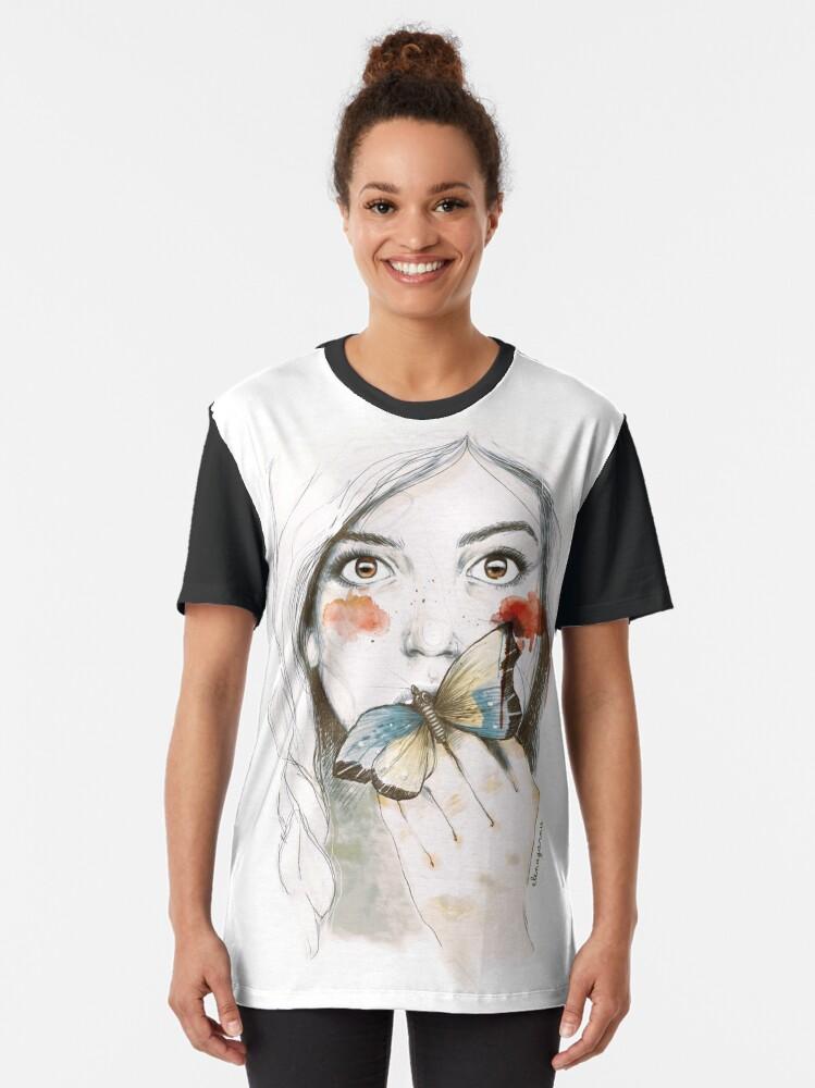 Vista alternativa de Camiseta gráfica ESTOMAGO DE MARIPOSAS