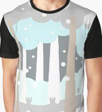 Winter Scene Graphic T-Shirt