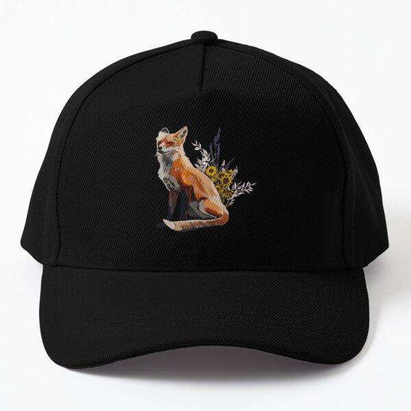 Fox + Flowers Baseball Cap