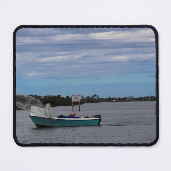 Net Casting on the Intracoastal Waterway Mouse Pad