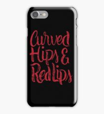 Curved Hips & Red Lips - Beautiful Sexy Thick Woman  iPhone Case/Skin