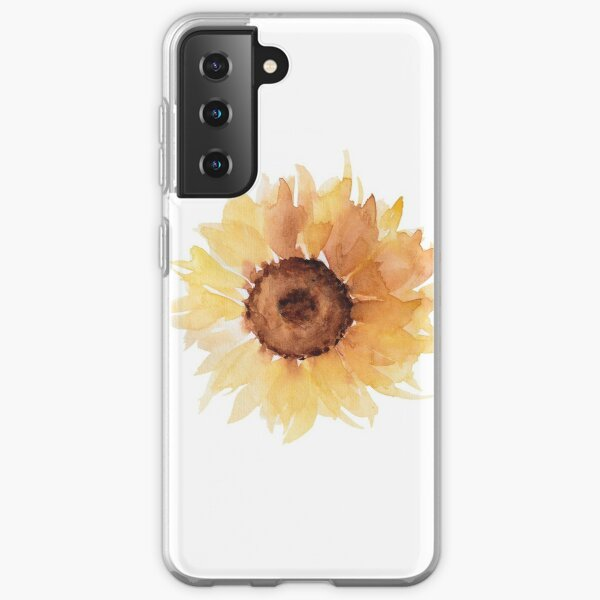 Watercolor sunfllowers Samsung Galaxy Soft Case